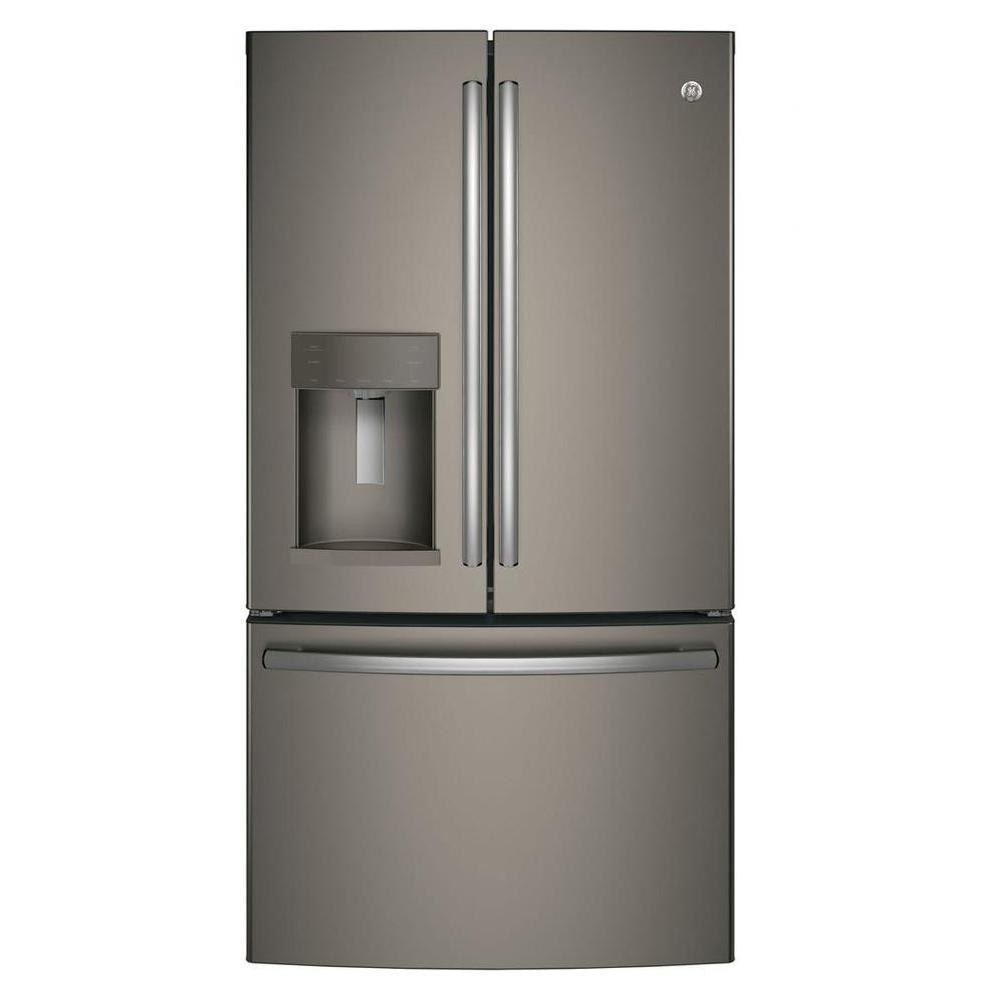 22 2 Cu Ft French Door Refrigerator In Slate Grey Counter Depth French Door Refrigerator French Doors Counter Depth Refrigerator