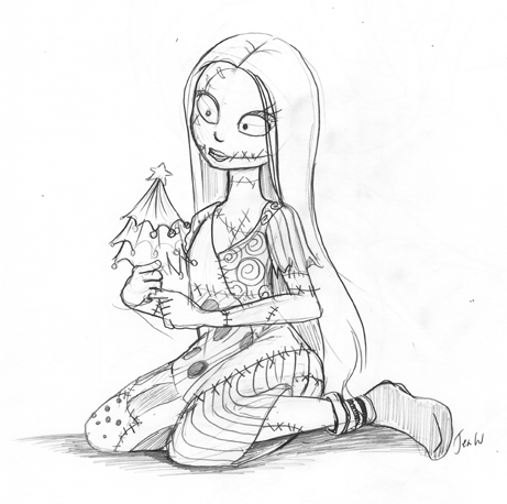 sally from nightmare before christmas drawing - Google Search | Cool ...