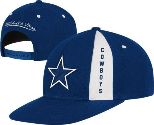 c183c1dc26c Mitchell   Ness Dallas Cowboys Navy Blue Panel Down Snapback Adjustable Hat  by Mitchell   Ness