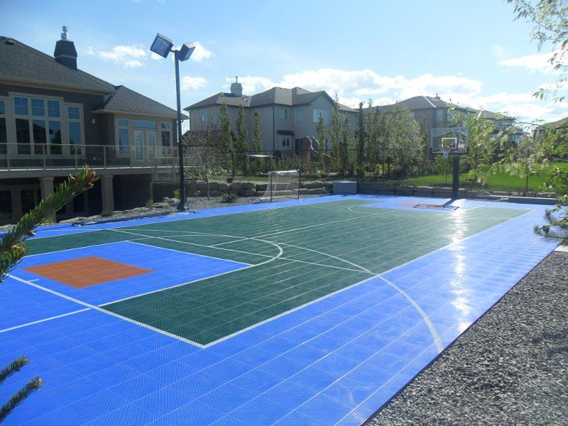 Sport Court 35u0027 X 65u0027 Outdoor Multi Use Backyard Game ...