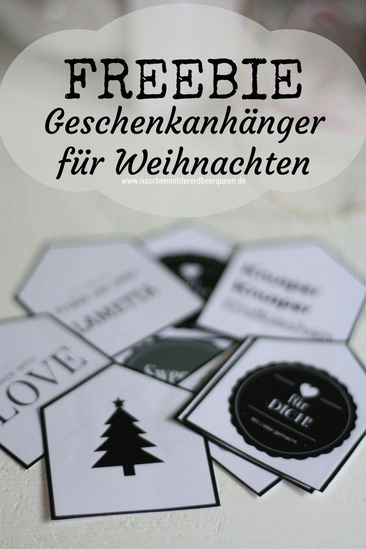 Geschenkanhänger Freebie zum Ausdrucken für Weihnachten | Free ...