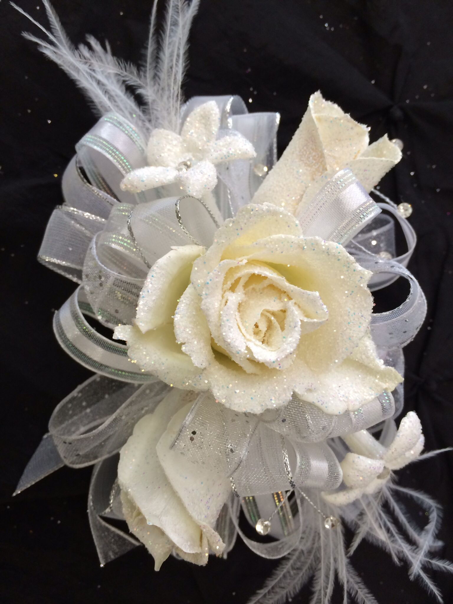 White Prom Corsage Crosges Pinterest Prom Corsage Corsage And