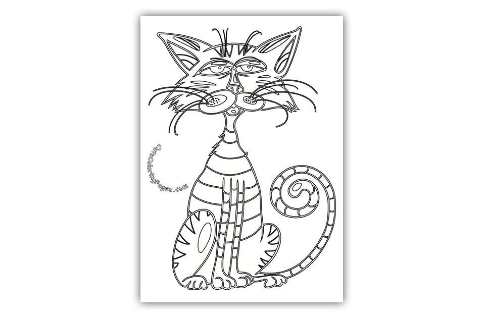 Blue Tomcat Coloring Page Cat coloring page, Coloring