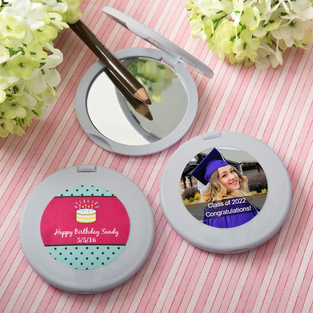 Personalized Silver Compact Mirror Birthday Party Favors Birthday Party Favors Birthday Design Birthday Favors