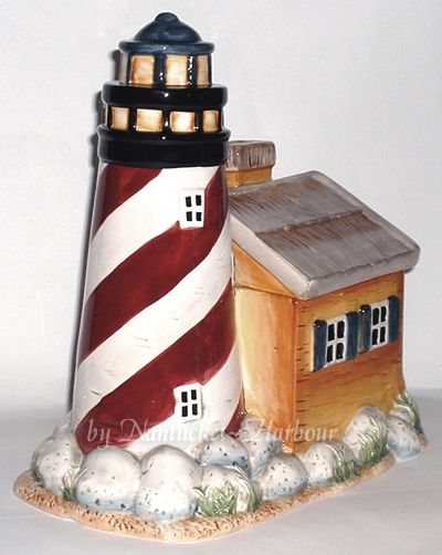 Lighthouse Kitchen Decor | BEAUTIFUL, LARGE LIGHTHOUSE COOKIE JAR IS NEW IN  THE BOX