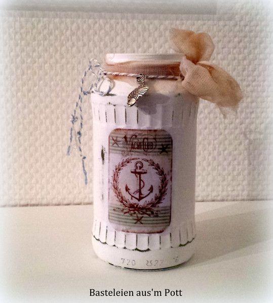 Maritime Wohnaccessoires pin viola dr auf basteleien aus m pott windlicht