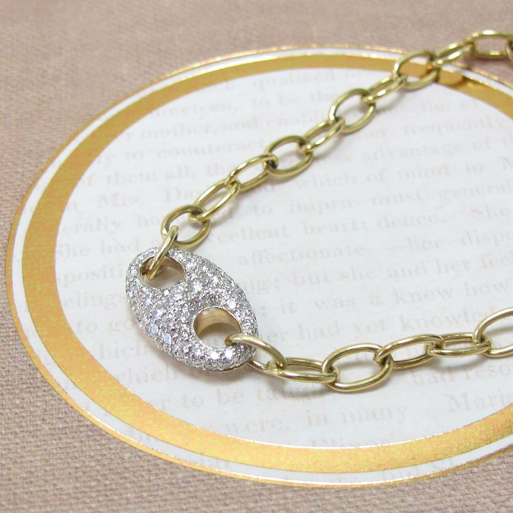 Pavé Diamond Link Bracelet