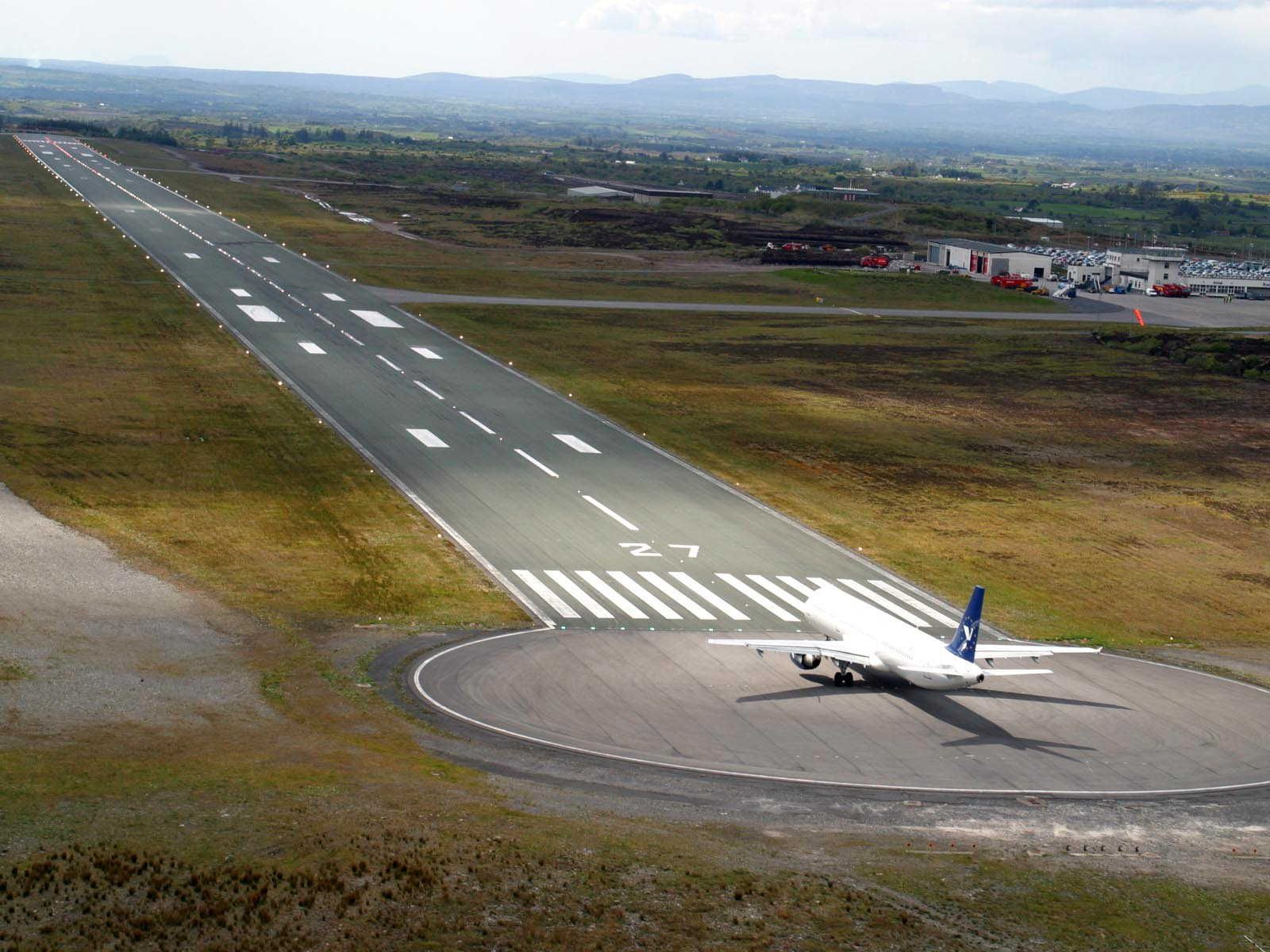 airport runway after the speeding vehicle crashes
