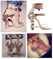 Rihanna Fashion Dsuaq 2 Virginia Sandals In Nude Women Sandals ...