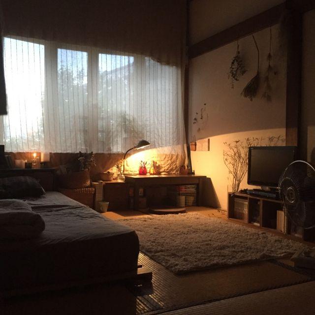 部屋全体/畳/和室/珪藻土壁/オイルランプ/ドライフラワー...など ...