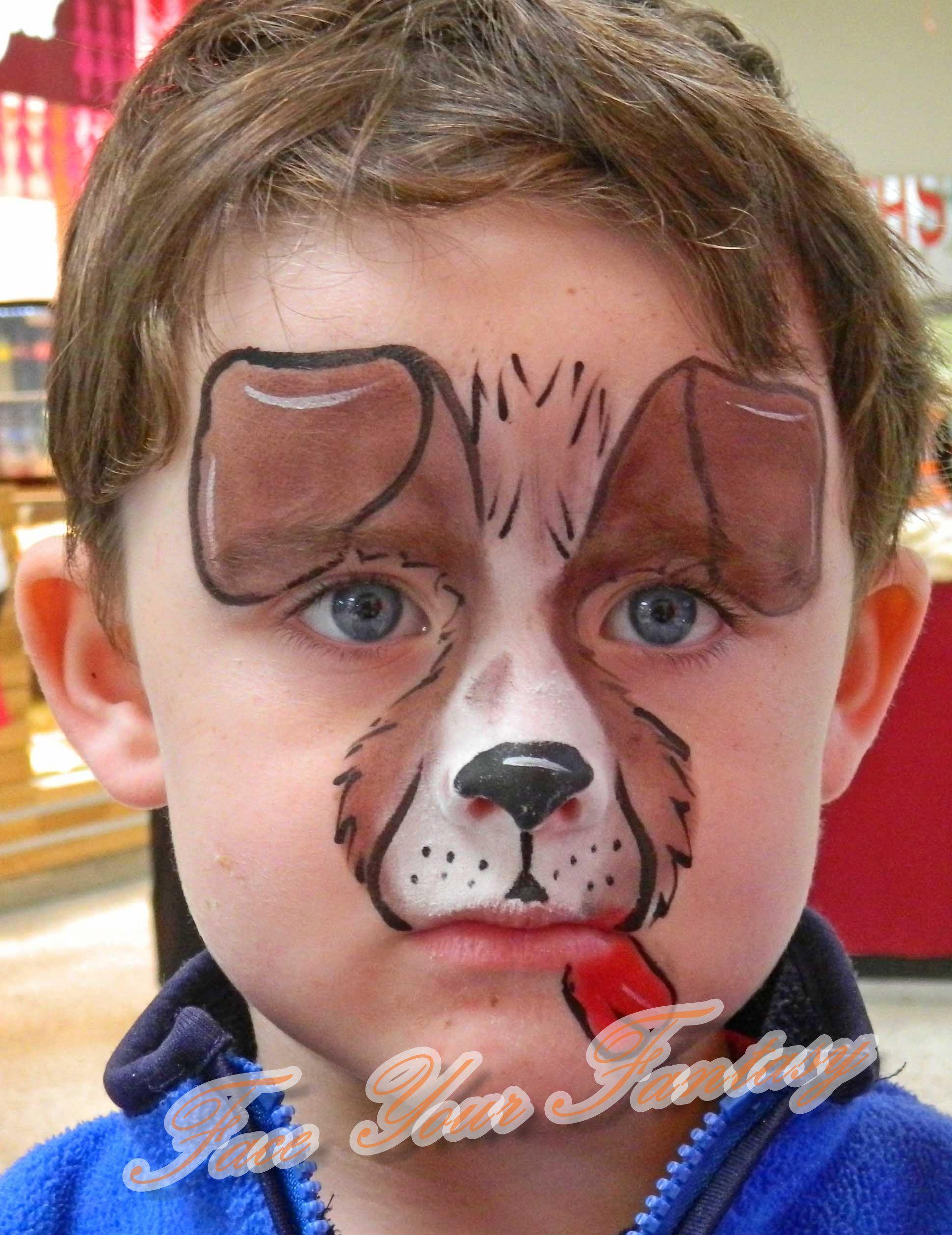 Puppy Dog Puppyfacepaint Cutepuppy Face Painting Pinterest
