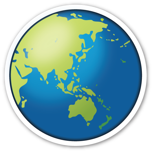 Earth Globe Asia Australia World Emoji Earth Globe Emoji Stickers