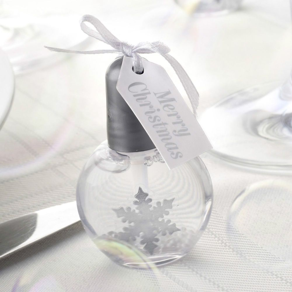6 Shimmering Snowflake Bubbles Christmas Partyware Winter Wedding ...