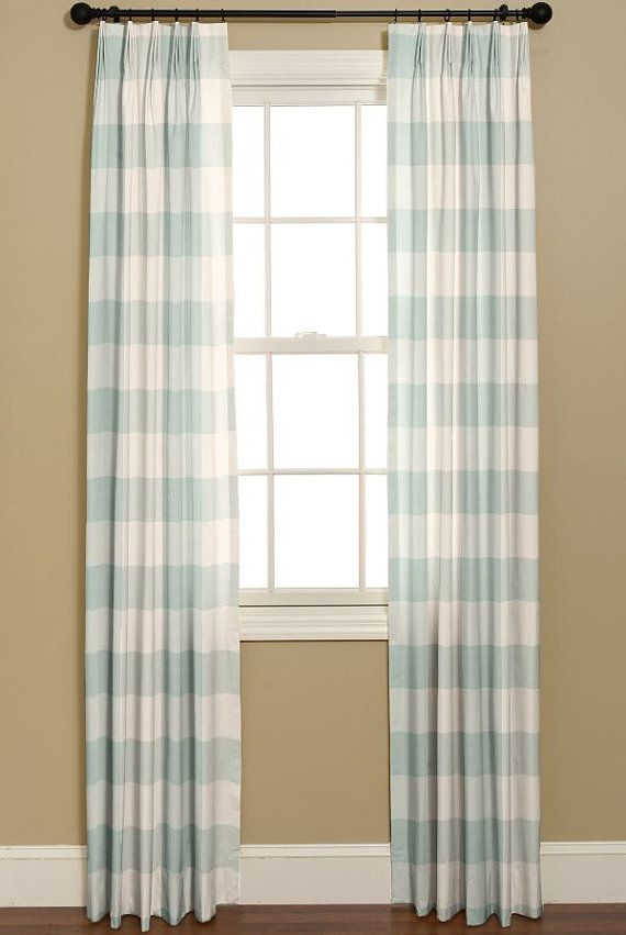 Curtains Curtains In P Kaufmann Buffalo By Bellashomedecor 225 00 Decor Curtains Teal And White Curtains
