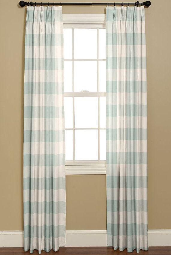 Curtains Curtains In P Kaufmann Buffalo By Bellashomedecor 225 00 Decor Teal And White Curtains Curtains