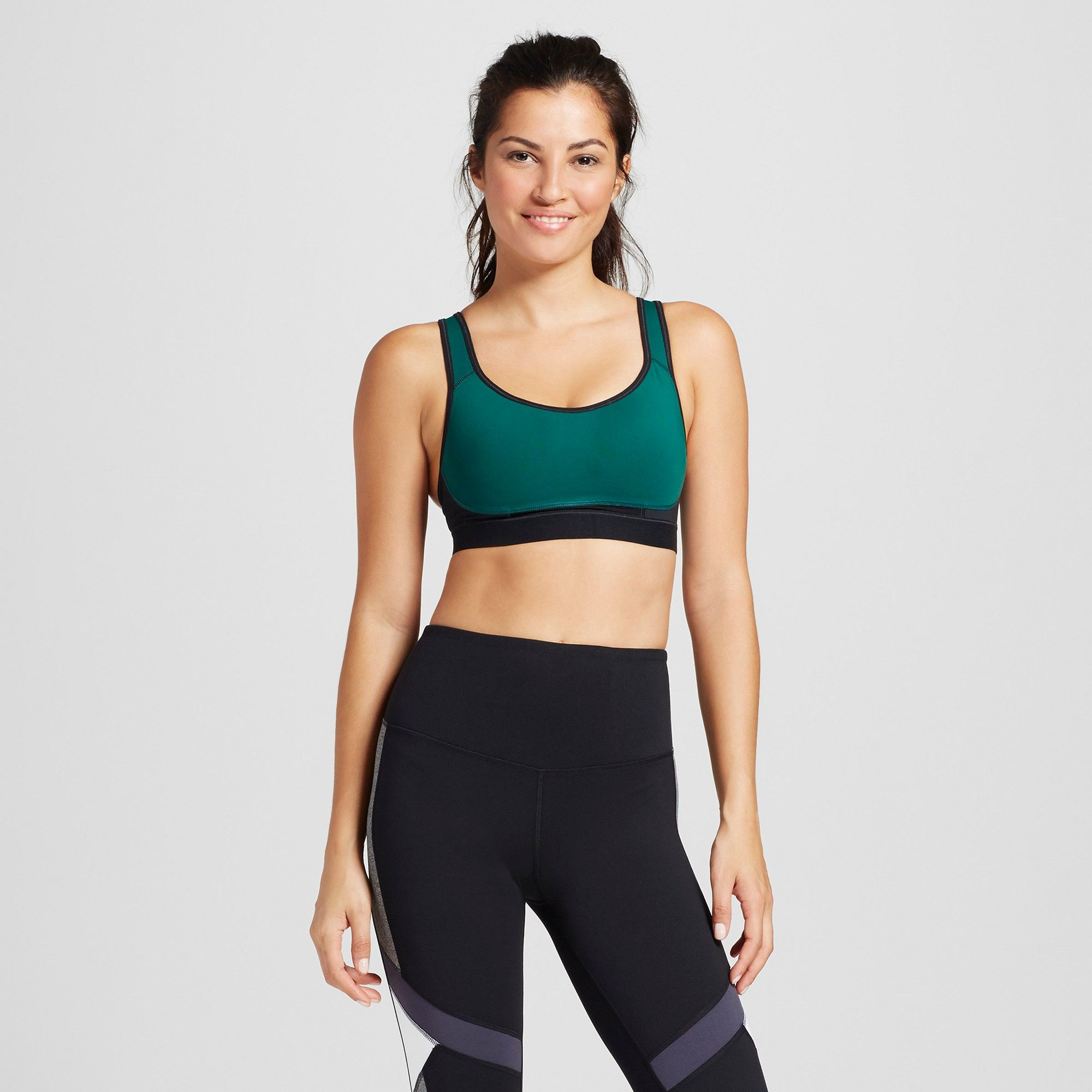 0d640ed6bfc Women s Power Core Compression Max High Support Racerback Sports Bra - C9  Champion - Green S