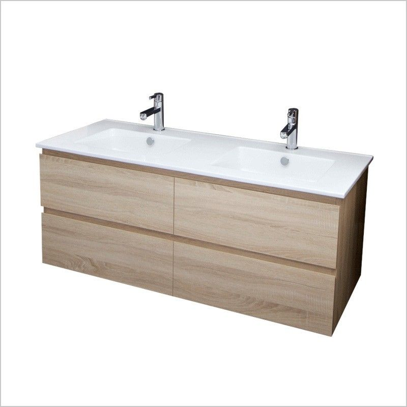 Parisi Evo 1200 Wall Hung Vanity Twin Basin Top. Parisi Evo 1200 Wall Hung Vanity Twin Basin Top   Bathroom