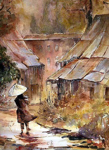 sous la pluie   par Evelyne Germain-Lacour