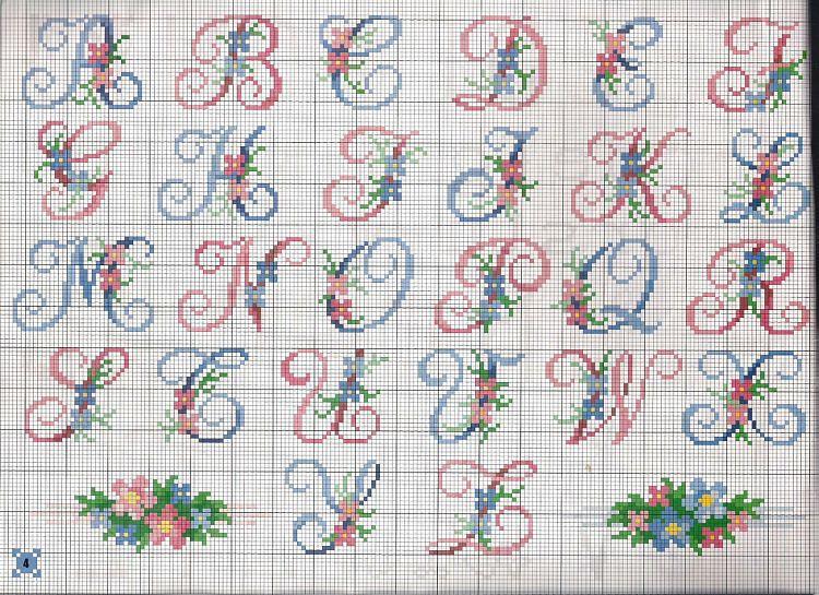 Алфавит картинки для вышивки