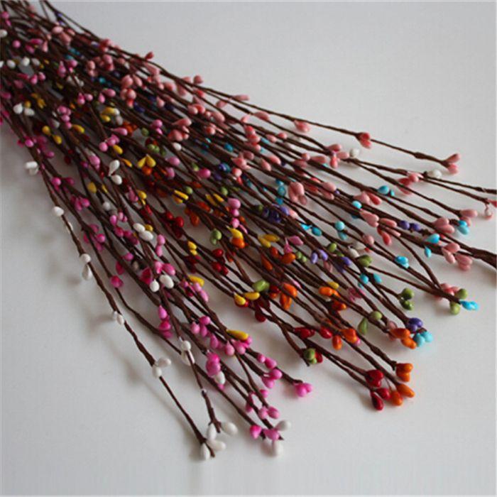Chegada 40 cm 9 cores ( 100 pçs/lote ) ramos artificial festa de casamento decoração do carro artesanato frete grátis(China (Mainland))