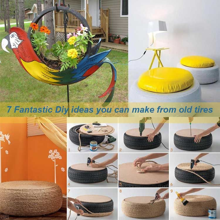 7 fantastic diy ideas you can make from old tires diy for Tire decoration ideas