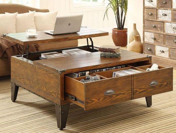 La Table Basse Avec Tiroir Un Meuble Pratique Et Deco Archzine