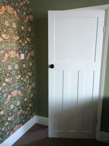 Back In Time To The 1930 S Shaker Doors 1930s House Renovation 1930s House Interior House Doors