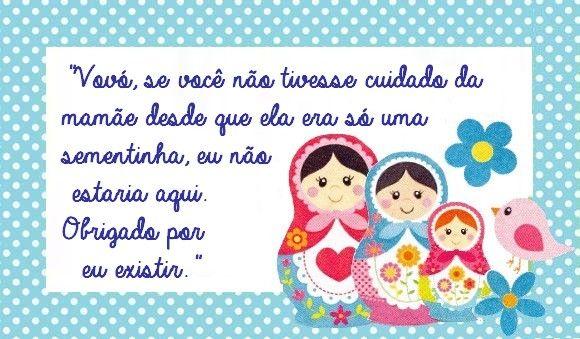 Mensagem De Aniversario Da Neta: Homenagem Para A Vovó - Dia Das Mães