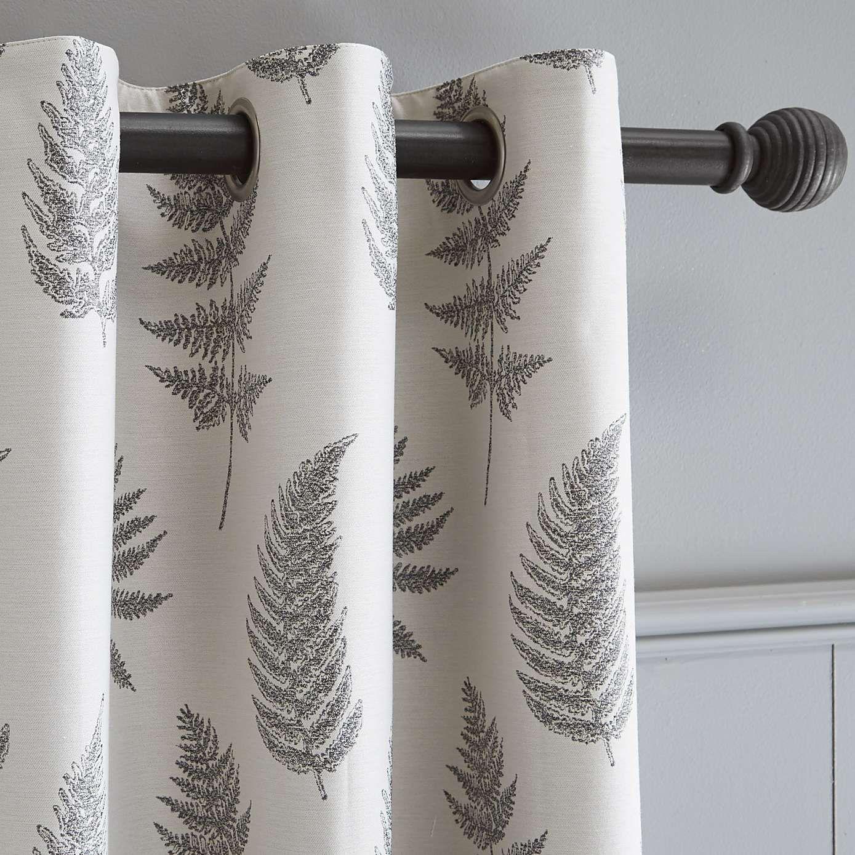 Dunelm Grey Ring Top Curtains