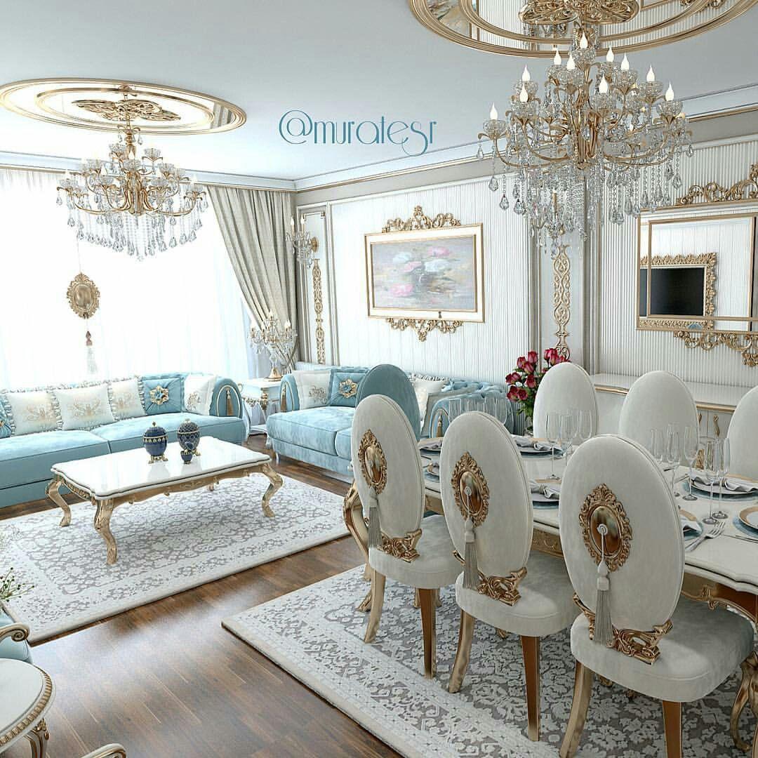 Pin de rocio moya en interiores geniales comedor de lujo - Casas de muebles ...