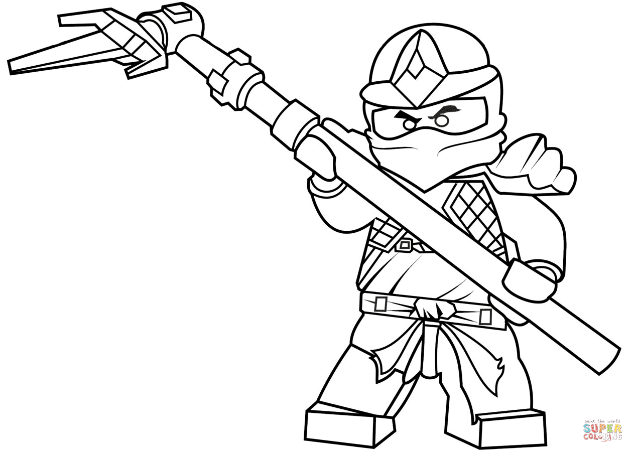 Lego Ninjago Cole Zx Coloring Page From Lego Ninjago Category Select From Printable