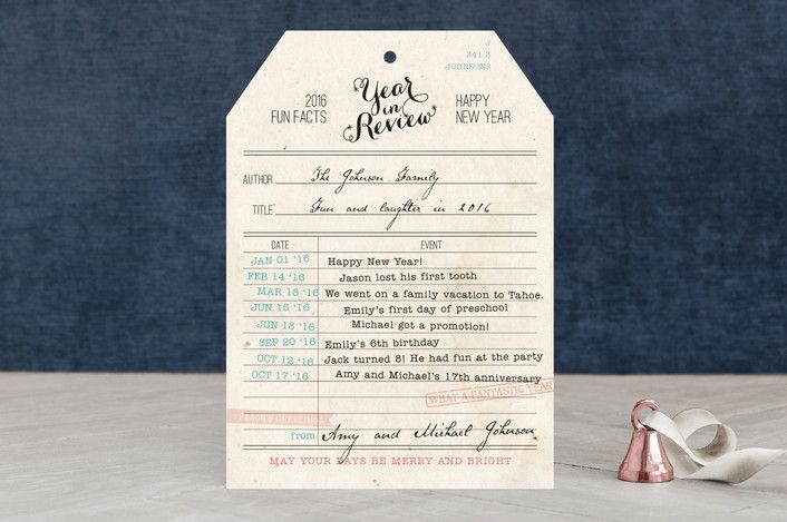 Vintage Library Card Year in Review - fresh example invitation card happy birthday