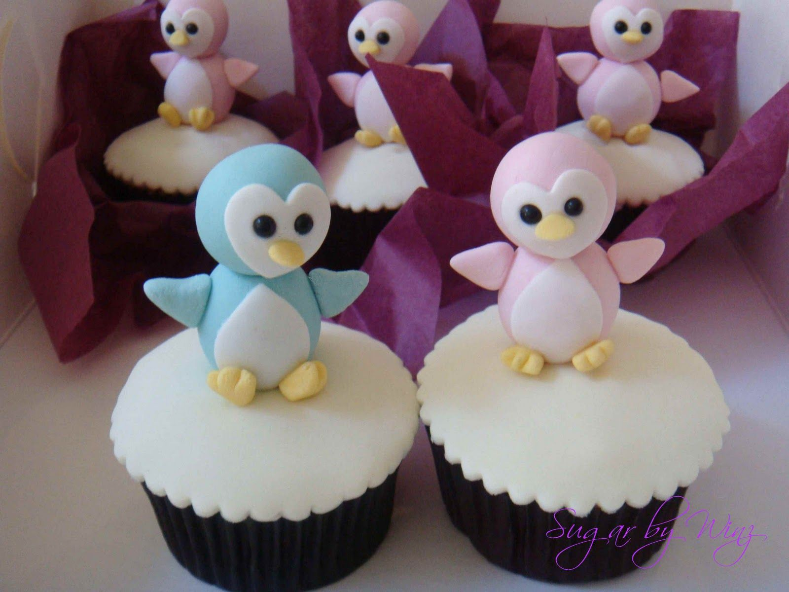 Baby Penguin Cupcakes. For my birthday maybe? @Wendi Oldham :)