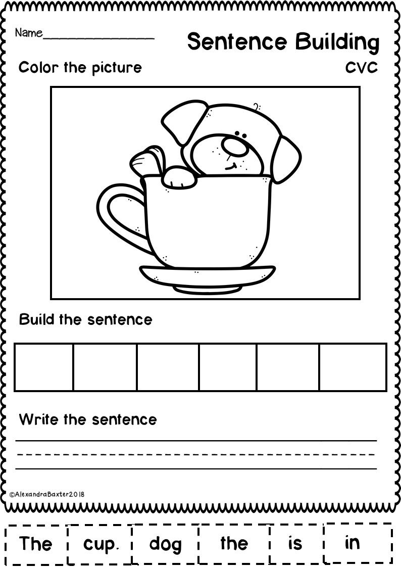 small resolution of This resource is a selection of 20 no prep sentence building (sentence  scramble) works…   Teaching sentence writing