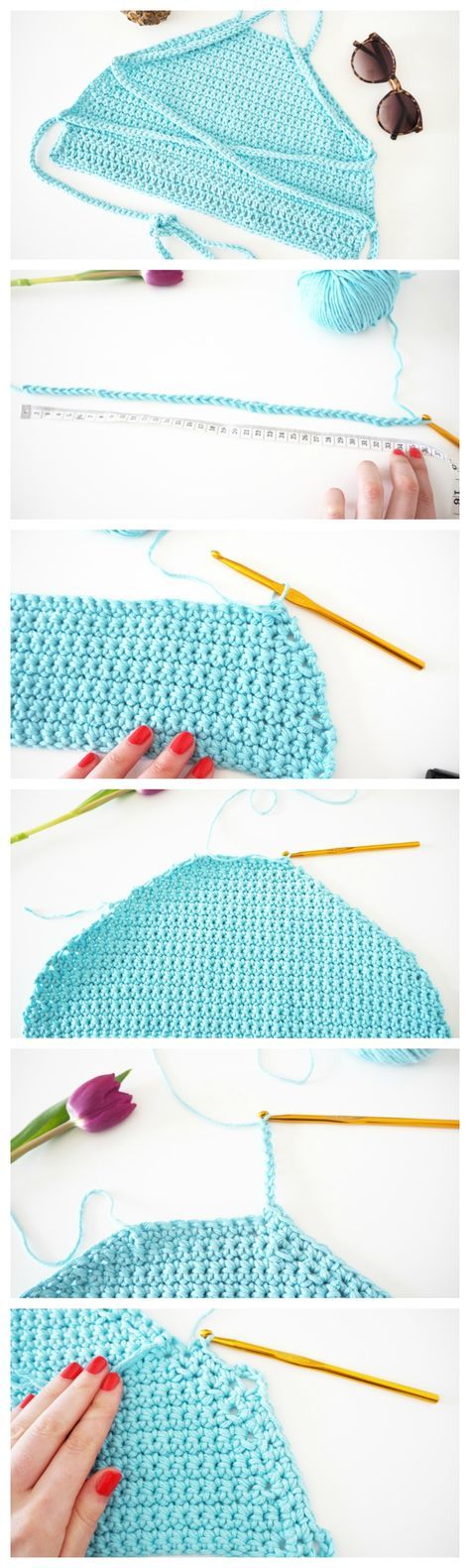 How To Crochet Festival Top DIY | Tutorial | Made Up Style | Crochet ...