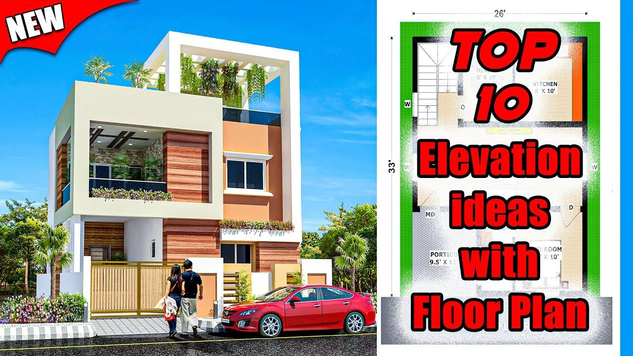 Top 10 Elevation Designs For 2 Floor House With Floor Plan House Eleva House Elevation House Floor Plans Japan House Design