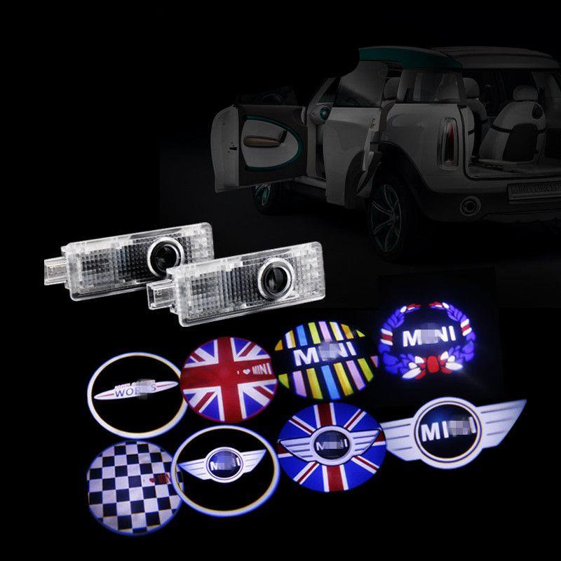 Car Led Ghost Shadow Laser Projector Door Light Courtesy For Mini Cooper One S R53 R55 R56 R57 R58 R59 R60 R61 F55 F56