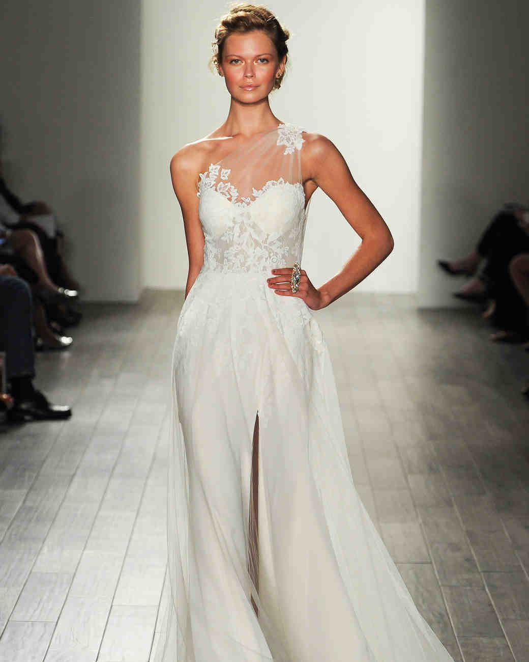 Jim Hjelm Fall 2017 Wedding Dress Collection Martha Weddings One Shoulder A
