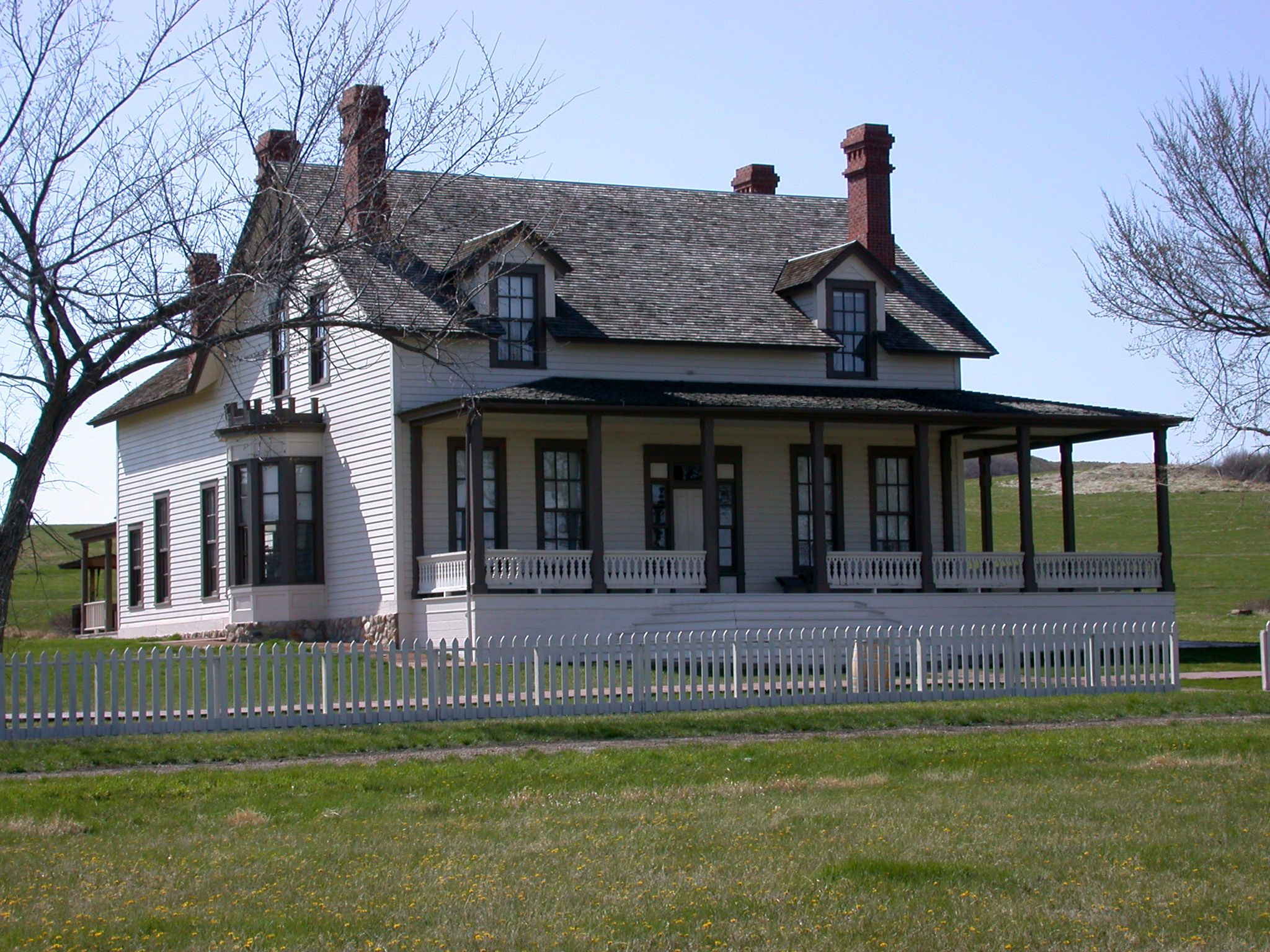 Custer House Ft Abraham Lincoln Mandan North Dakota