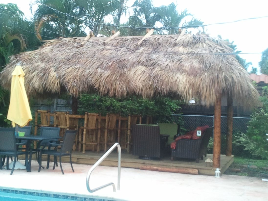 i want a tiki bar in my backyard by the pool outdoor living