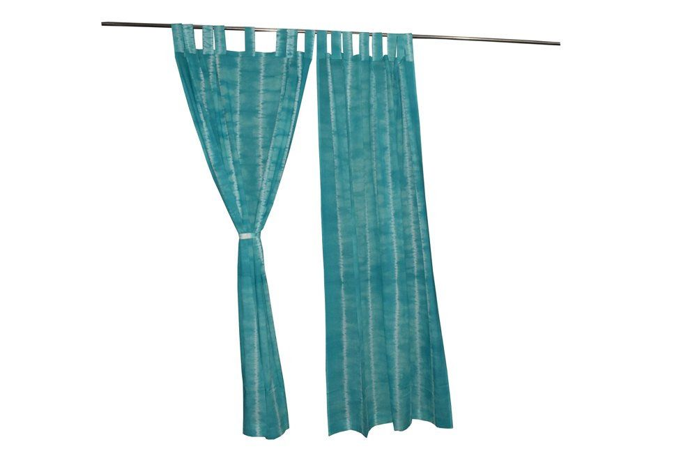 Bohemian Curtains Boho Decor Beach Curtains Sky Blue White