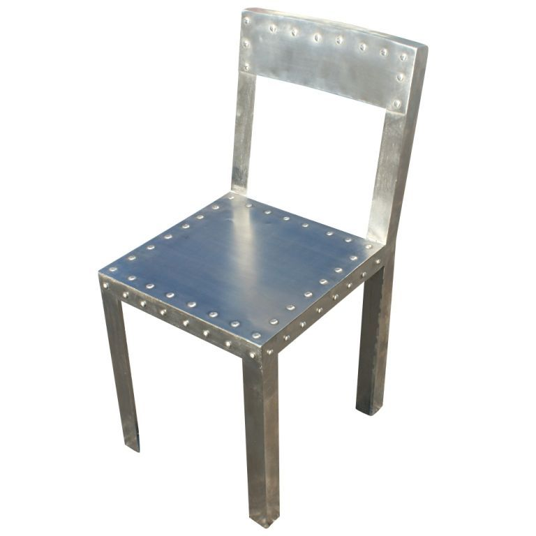 Good View This Item And Discover Similar Dining Room Chairs For Sale At   A Set  Of Eight Industrial Dining Chairs Formed From Brushed Sheet Metal With  Decorative ...