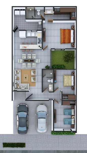Best 12 Plano De Un Solo Nivel Con Garaje En Terreno De 10 C 20 Metros Skillofking Com Small House Design My House Plans Small House Design Plans