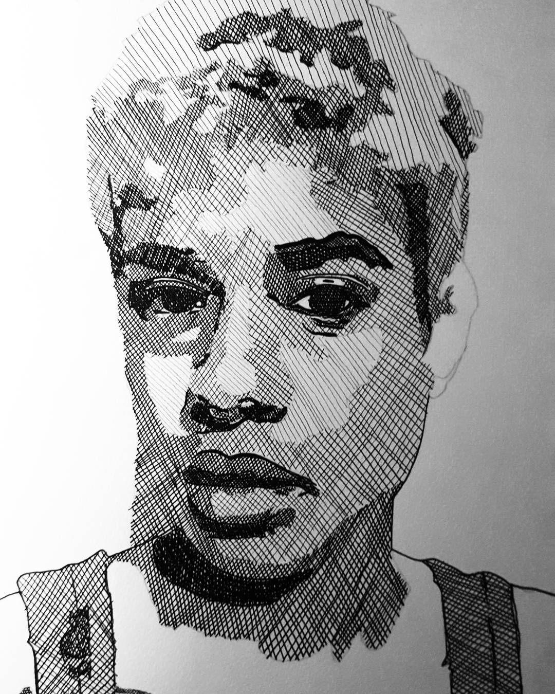 Hbd art ink blackandwhite crosshatch crosshatching