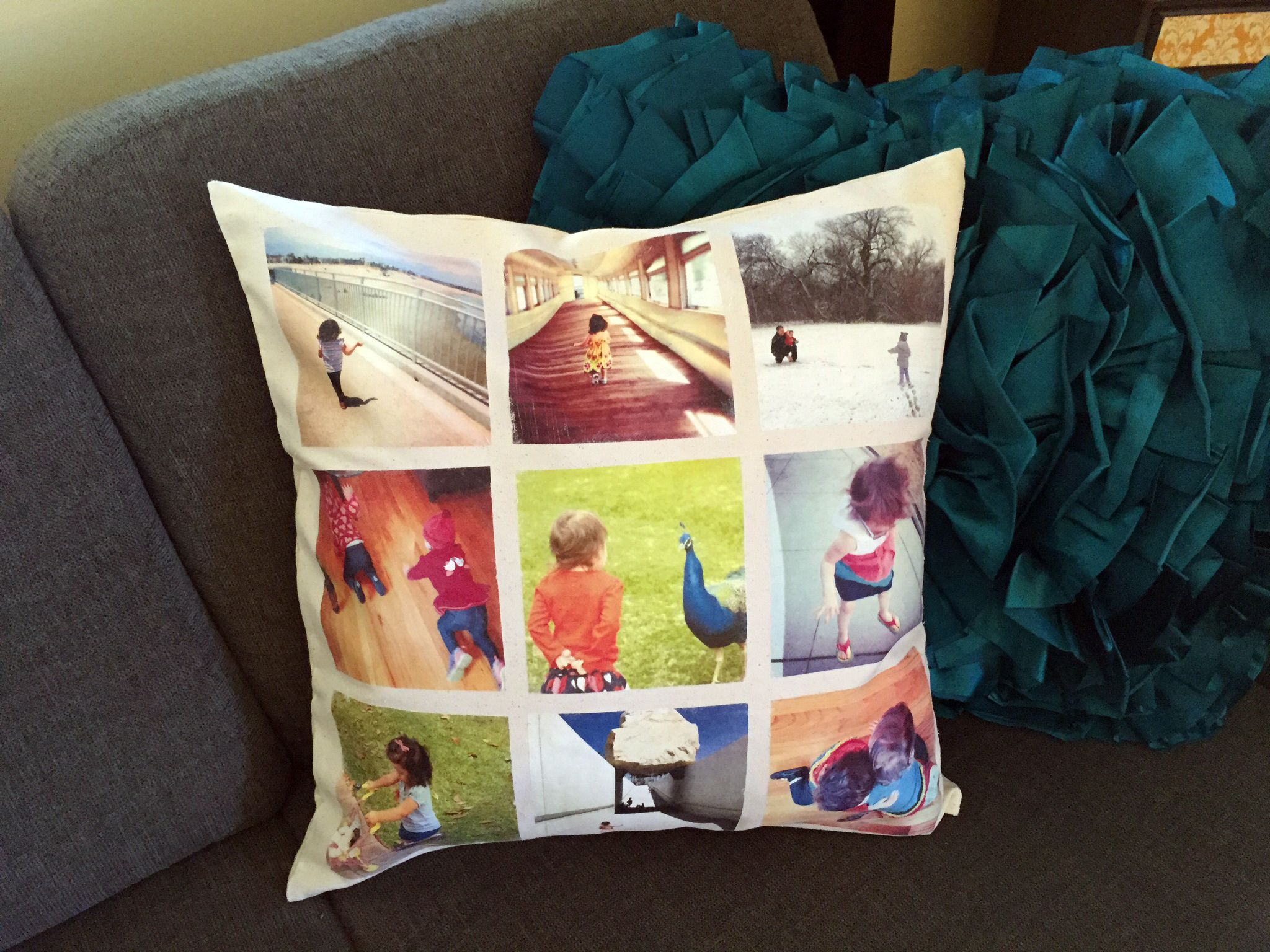 Instagram Photo Pillow made with Photo Transfer Mod Podge.