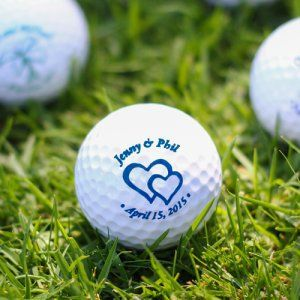 Printed Golf Ball Wedding Favors