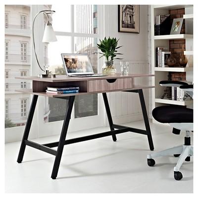 Writing Desk Birch (Brown) - Modway