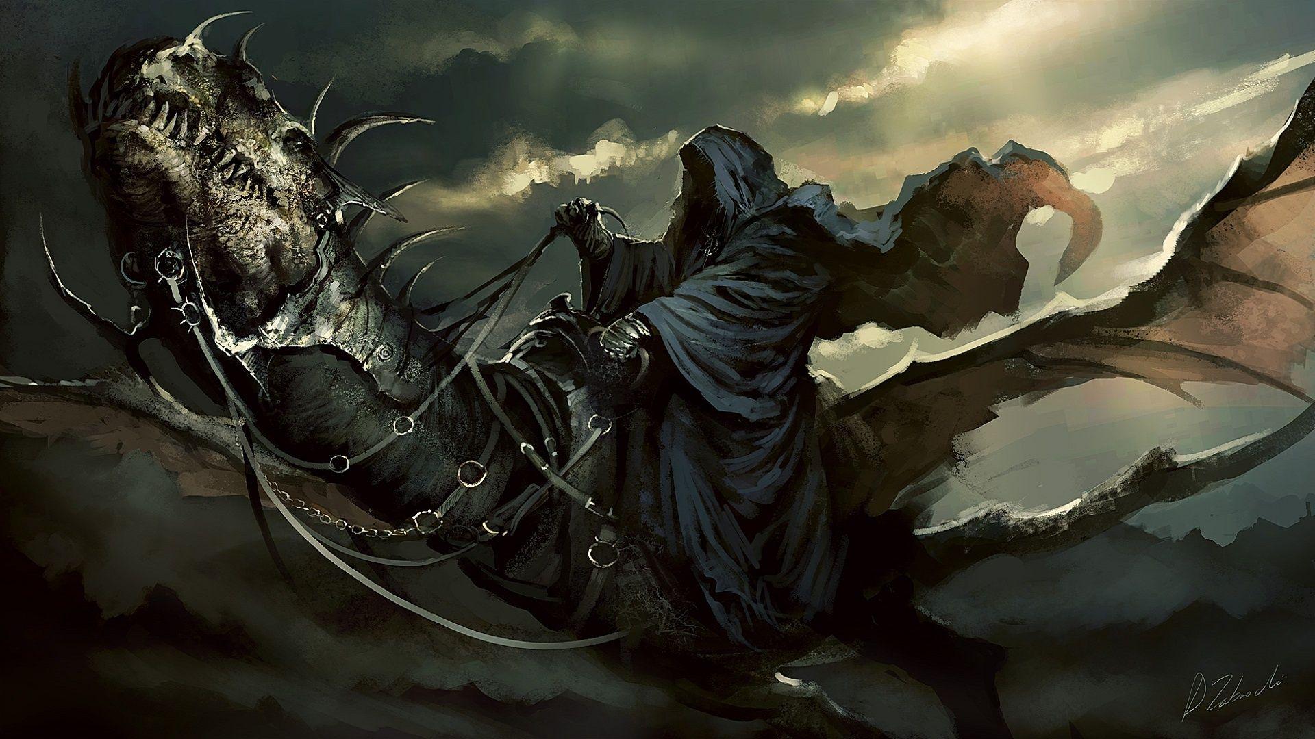 Lord Of The Rings Reaper Dragon Dark Wallpaper 1920x1080