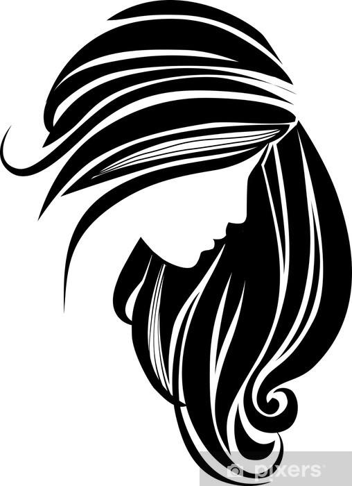 Naklejka Ikona Wlosow Pixers Zyjemy By Zmieniac Hair Icon Hair Clipart Hair Vector