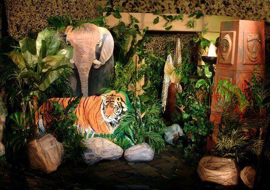 decorations tropical forest jungle safari african weddings princess